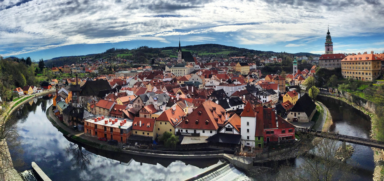 Cesky Krumlov of the Czech Republic