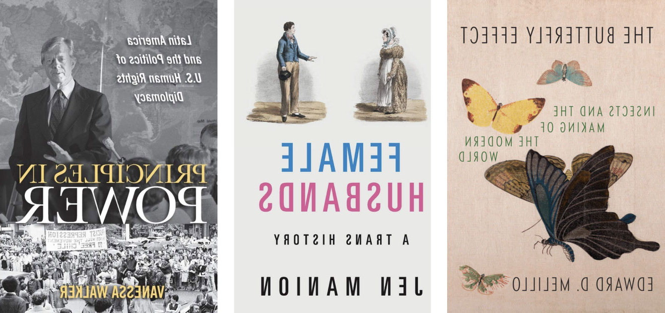 3 books by history faculty described in text below